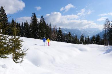 Schneeschuhwandern im Winterurlaub in Radstadt, Salzburg