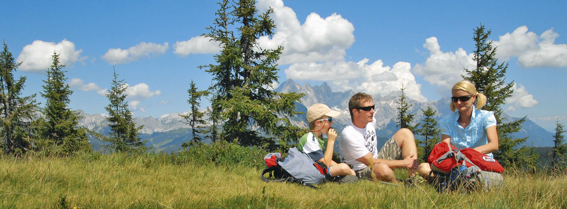 Sommerpauschalen & Wanderpauschalen im Ferienhaus Kössler in Radstadt, Salzburger Sportwelt