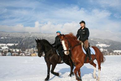 Winterreiten im Winterurlaub in Radstadt, Salzburg